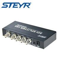 STEYR SDI Splitter 4 Way 3G SD SDI Video Splitter 4 Port BNC Splitter Boosted Monitor