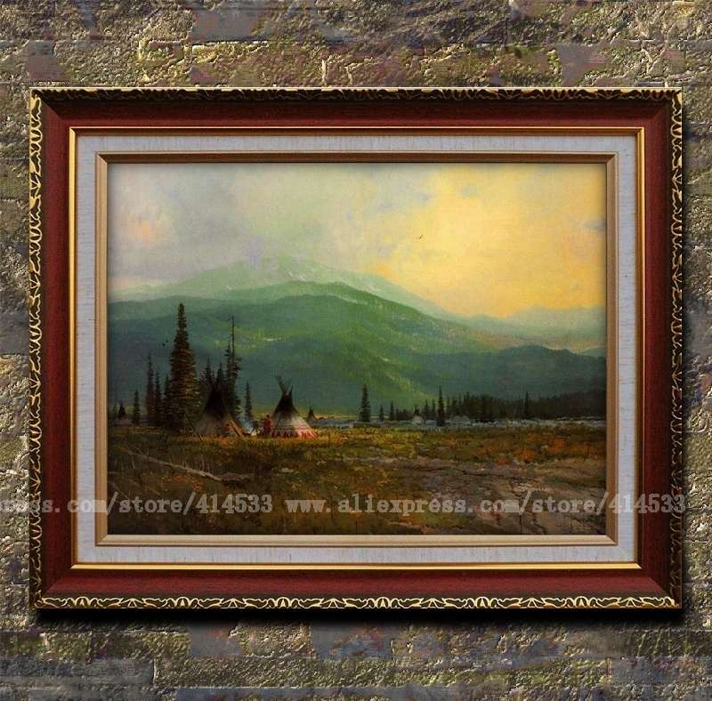 Thomas kinkade prints original oil painting clearing skies - Home interiors thomas kinkade prints ...