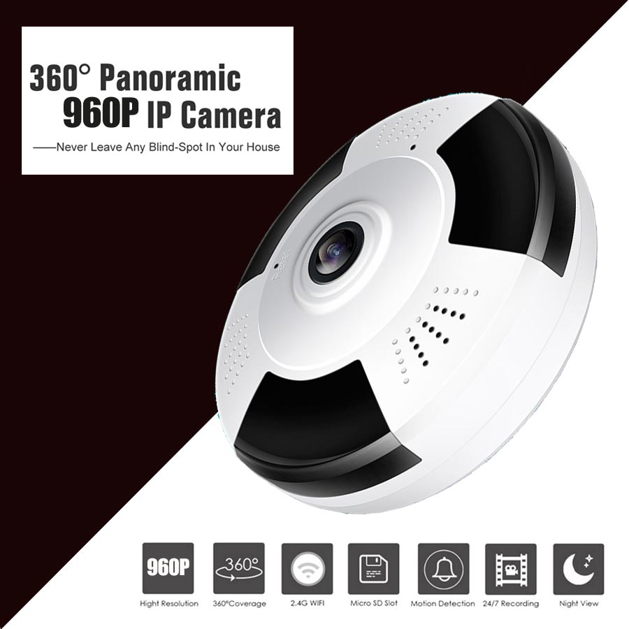 HD 960P Wifi IP Camera Home Security 360 Degree Panoramic Mini Camera CCTV Camera Night Vision Fish Eyes Lens IP Cam two Way нивелир ada cube 2 360 home edition a00448