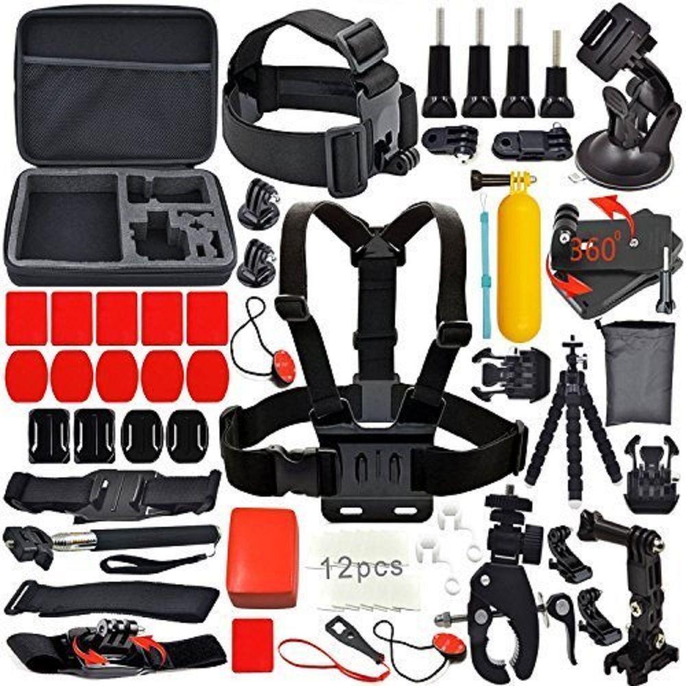 GPK02 Sport videocámara accesorios Budle Kit para Gopro Hero 5 2 4 3 + SJ4000 SJ5000 SJ5000X Wifi 4 K cámara de Acción de buceo al aire libre