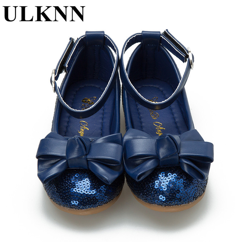 ULKNN New children 39 s Sandals girls princess shoes Bowtie kid 39 s spring dance shoes red sequins butterfly wedding shoe 26 34 in Sandals from Mother amp Kids