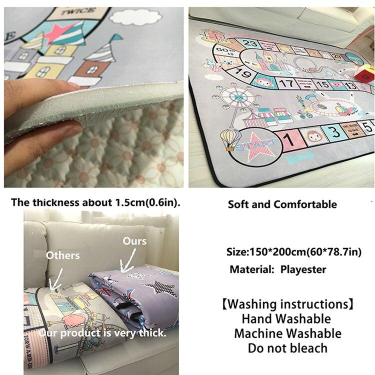 anti-skid rastejando almofada decorar sala de estar para crianças