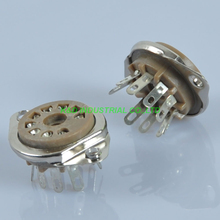 2pcs 9pin vacuum noval Tube Sockets Chassis Mount for 12AX7 12AU7 ECC82 ECC83 for Tube Amplifier 2pcs 4pcs psvane 12au7 tii tube diy hifi markii 12au7 ecc83