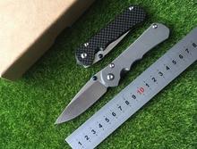 Sebenza D2 TC4 titanium alloy blades 25 + carbon fiber processing folding camping knife EDC tool of outdoor survival tool