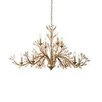 Современные золото хрустальные люстры светодиодный свет для гостиной столовой КРИСТАЛЛЫ ЛАМПА AC110V 220 В