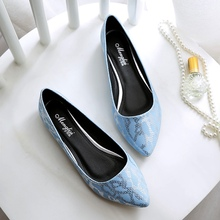 Blue White Pink PU Pointy Toe Soft-bottomed Shoes Big Size 40 41 42 43 Discount Hot Sale 2016 New Women Flats Free Shipping