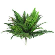 1pcs Green Simulation Persian Grass Artificial Green Plant Fake Palm Leaves Wall Hanging Plastic Bonsai Home Garden Decoration