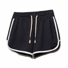 ROPALIA Drawstring Shorts Women Casual Loose Cotton Clothes Side Split  Elastic Waist Shorts Femme Fitness Short e42b36b8163