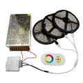 15M Waterproof RGB LED Strip 5050 SMD Flexible Tape Light + Wireless 2.4G Touch Remote Controller + 12V 240W LED Power Adapter