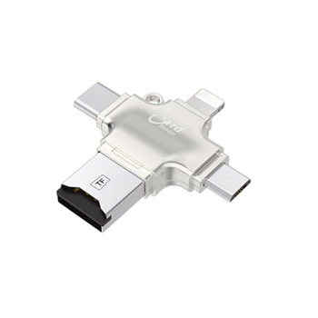 4 in 1 Type-c/Lightning/Micro USB/USB 2.0 Card Reader Micro SD Card Reader For Android iPad/iPhone 7 plus OTG