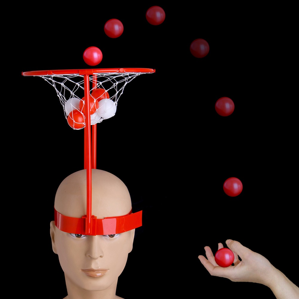 HBB Headband Hoop Ball Toy Catching Basketball Kid Game Head Strap with 20 Balls