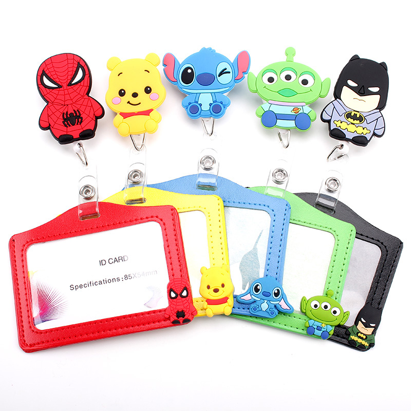 1 Pcs/lot New Cartoon Animals Retractable Badge Reel Silicone Student Nurse Exihibiton ID Name Card Badge Clip Office Supplies