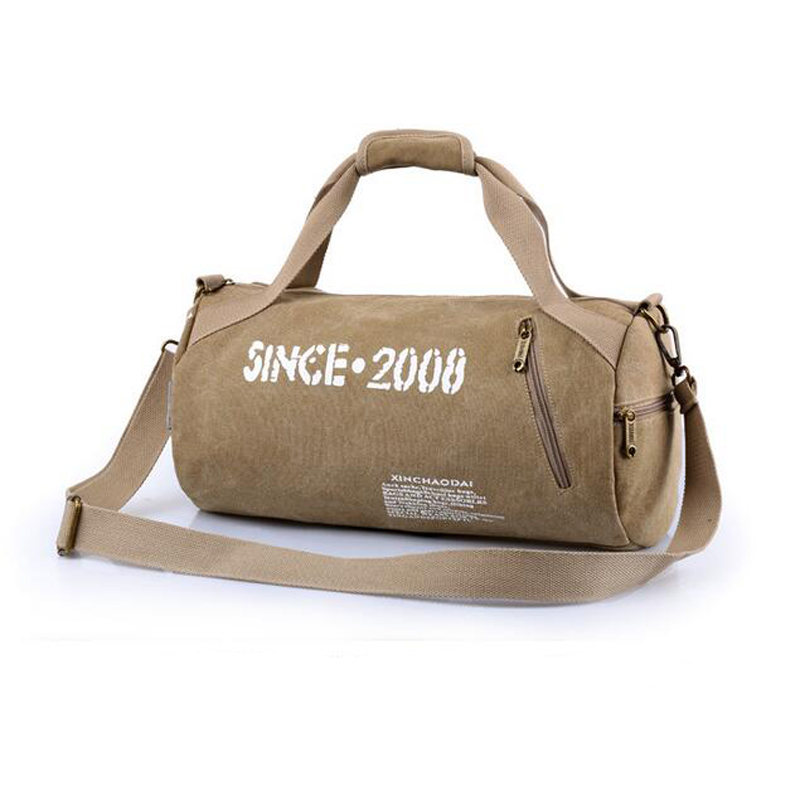 Canvas Gym Bag Camping Training Sports Duffle Bag for Men and Women Fitness  Bag Women Sport Training Tote Travel Handbag-in Gym Bags from Sports ... 5e6e6e1455