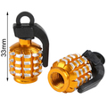 2PCS Grenade Car&Motorcycle Tyre Tire Air Valve Cap universal  cool new gold