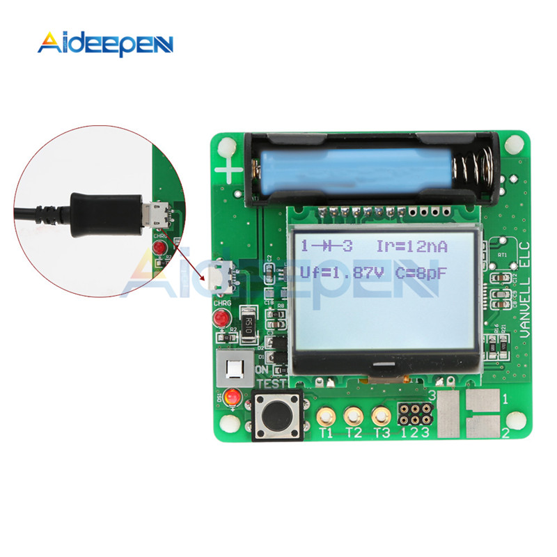 MG328 Multifunction Transistor Tester Inductor Capacitance Resistance ESR Meter 3.7V LCD Display PCB Board