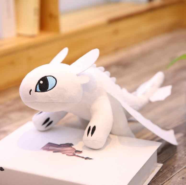 Estilo quente 30cm como treinar o seu dragão 3 brinquedos de pelúcia desdentado luz fúria anime figura noite fúria dragão boneca de pelúcia brinquedo crianças