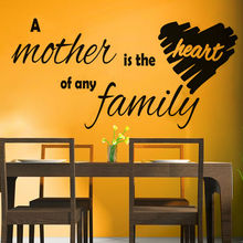 A Mother Is The Heart Of Any Family Wall Sticker