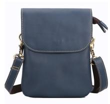 Retro Men Genuine Leather Mini Shoulder Bag Mens Easy-to-carry Cowhide Commuter Bags Outgoing Phone Pocket Bolso Hombre D585