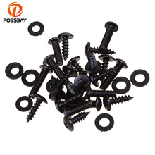 POSSBAY Black Motorcycle Faring Bolt Screws Kit Fit Scooter Parts For Suzuki GSXR1300 Hayabusa 2008 09 10 11 12 13 14 15 16 2017 motorcycle rear seat cover cowl for suzuki hayabusa gsx1300r gsxr1300 2008 2017 09 10 11 12