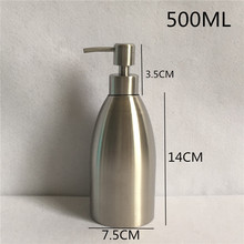 500ml 304 Stainless Steel Liquid Soap Dispenser Hand Sanitizer Bottle for Bathroom  WY-003