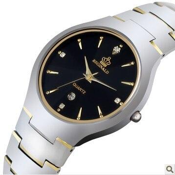 2018 New Men's Watch Luxury Brand Quartz Wristwatches Crystal Waterproof Tungsten Steel Calendar Date Week Men Business Watches