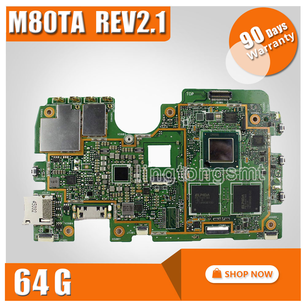 Original for ASUS M80TA Rev2.1 Tablet motherboard Logic board System Board VIVOTAB NOTE 8 Logic Board 64G Memory Motherboard original logic board 2009fa7m3c4lv0 4