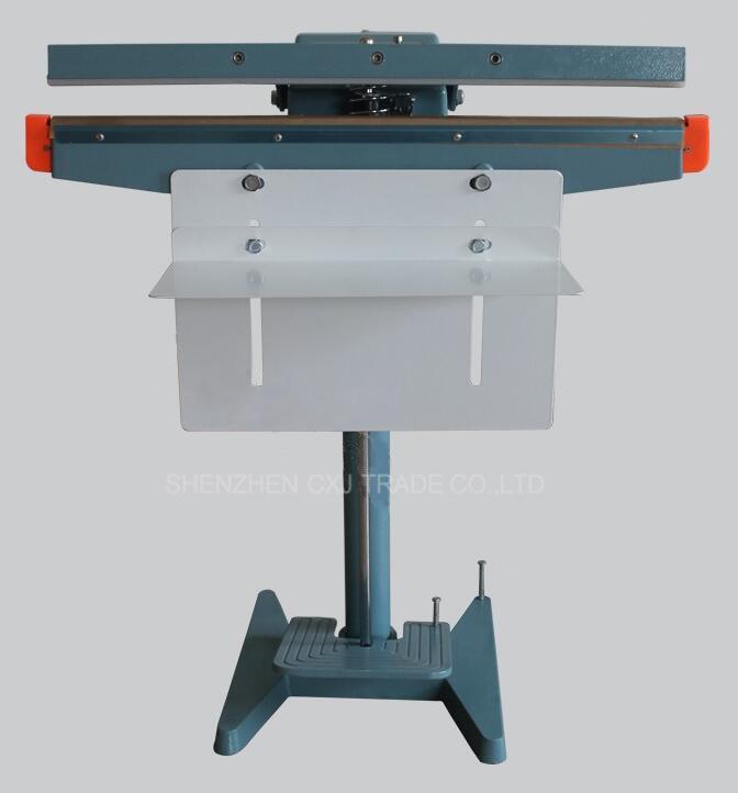 450mm Foot Pedal Impulse Sealer 17 inch Sealer Heat Package Sealing Electric Nailer Stapler Machine Shrinking Packaging Tool impulse iz7002