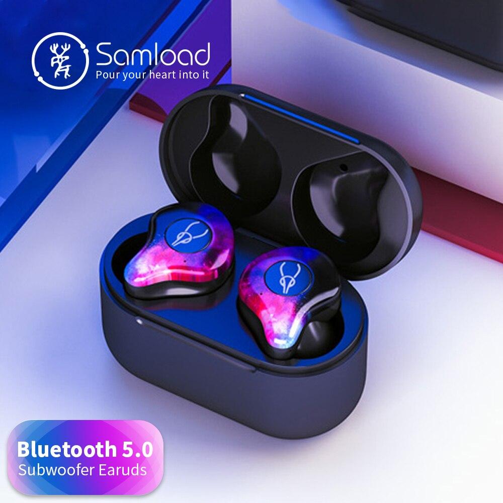 Samload Sport Bluetooth 5.0 Casque Partie Sans Fil casque 3D Son Stéréo Écouteur pour Samsung Xiaomi de Mélange 2 Huawei Écouteurs