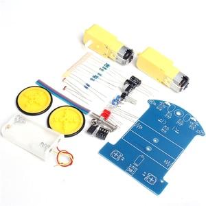 Image 5 - Kit de linha de rastreamento inteligente diy, kit para carros eletrônicos de rastreamento inteligente, diy, peças eletrônicas, D2 1