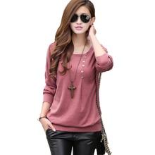 2017 tee shirt femme fashion O-neck tshirt women casual loose bat sleeve cotton T-shirt winter tops plus size women t shirt 5XL