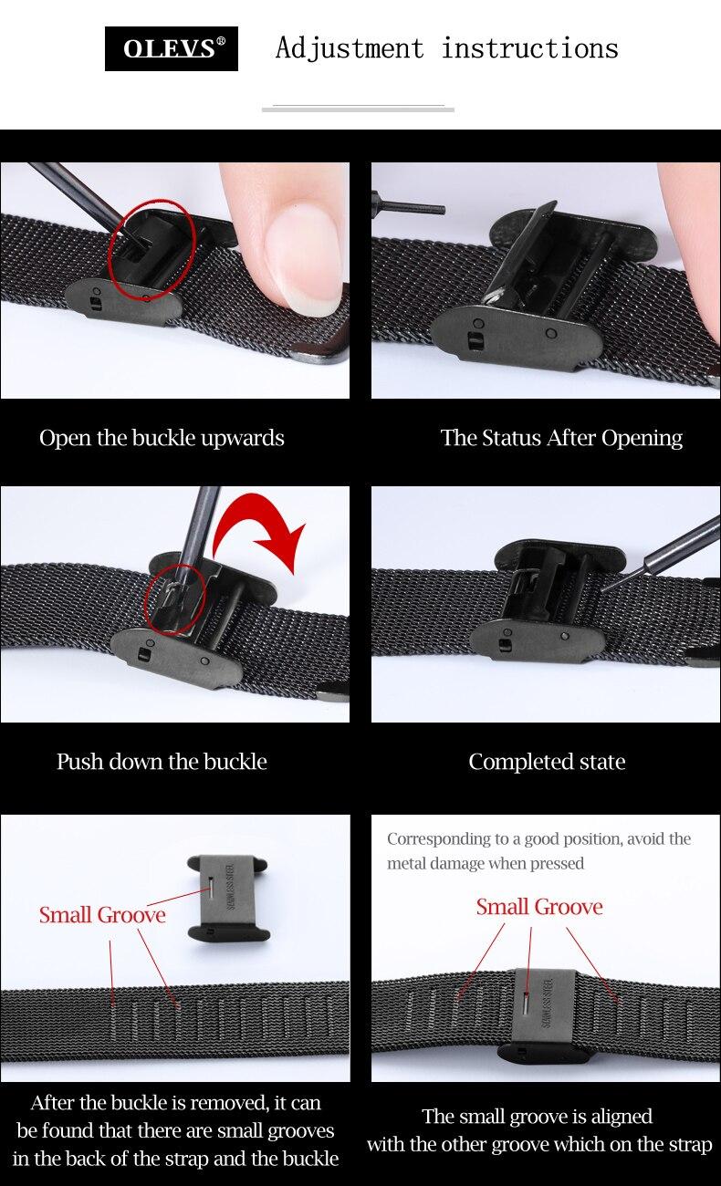 Montre ultra mince en acier inoxydable