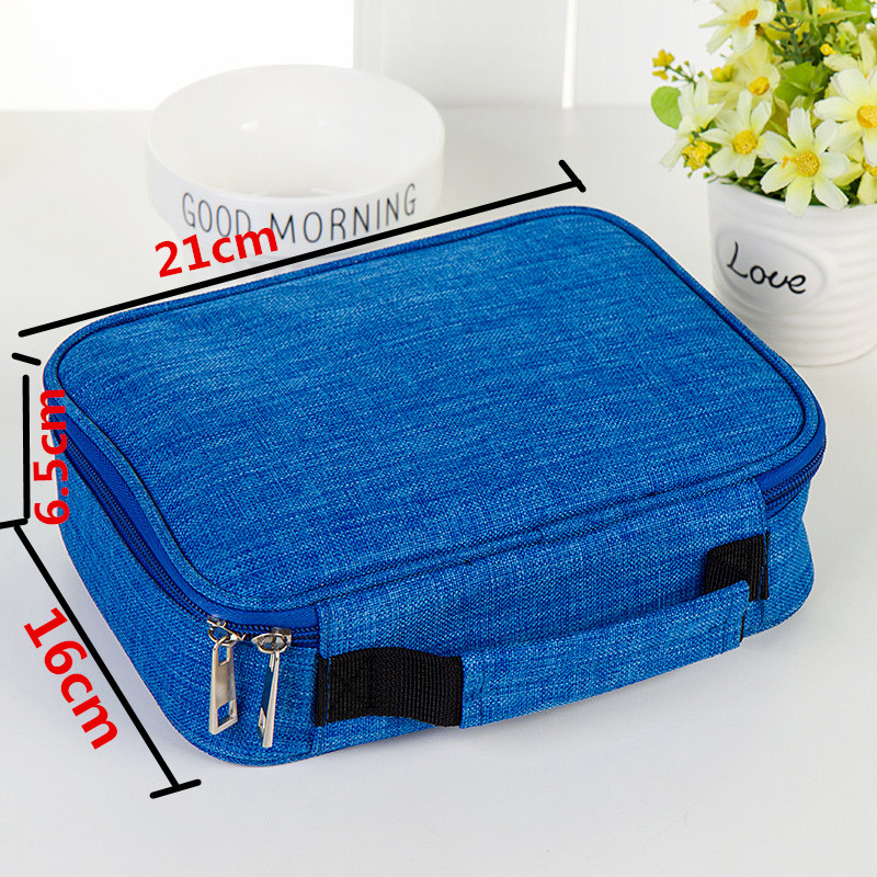 Image 4 - 4 Layers 72 Holes Large Capacity Pencil Case Oxford Zipper Sketch Pencil Bag Handbag Pencil Box School Supplies Art Stationery-in Pencil Cases from Office & School Supplies