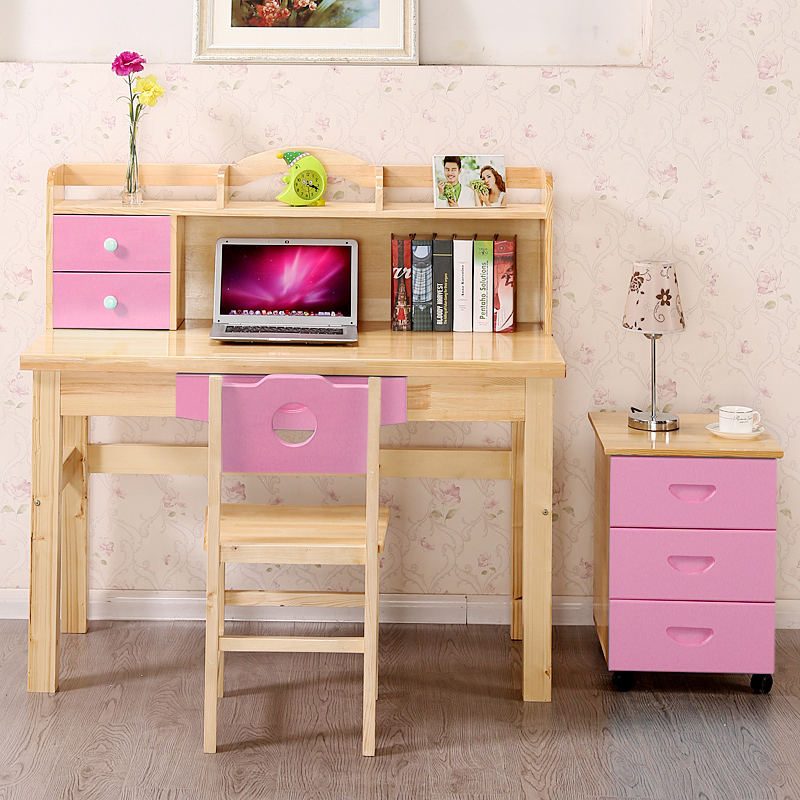 Home desk bookcase drawer Children study table with a computer wood-in Computer Desks from ...