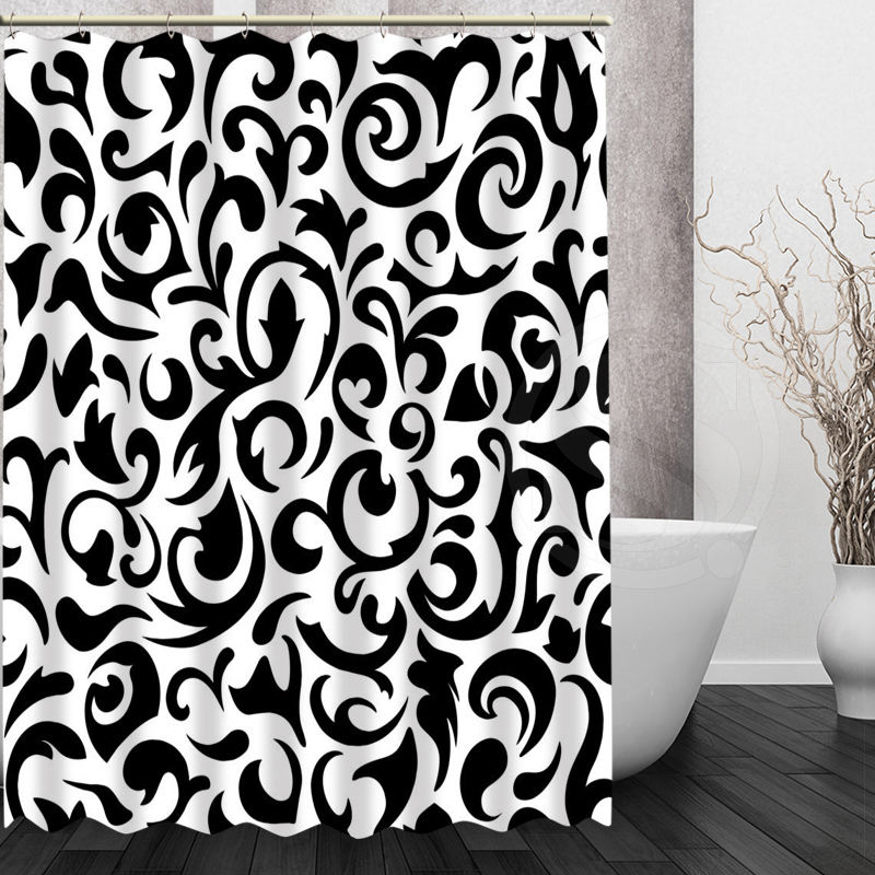 Custom Bath Curtain Waterproof Modern Black And White Pattern Shower Curtain  Polyester Bath Screens Personalized In Shower Curtains From Home U0026 Garden  On ...