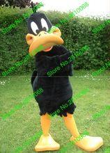 Casque en matériau EVA, Costumes de mascotte de canard Daffy, vêtements de dessin animé, fête d'anniversaire, mascarade, 996
