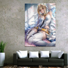 Home Decor Modular Canvas Picture 1 Piece Fate Saber Animation Painting Poster Art Wall For Wholesale