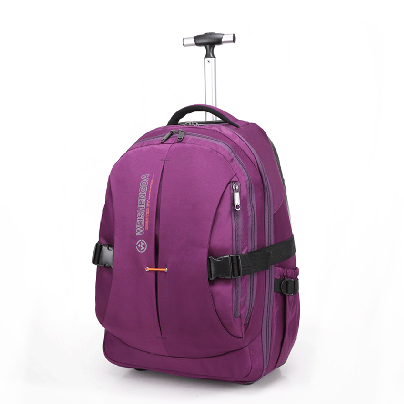 Single trolley suitcase computer business backpack bag male and female students luggage with wheels adult trolley bag