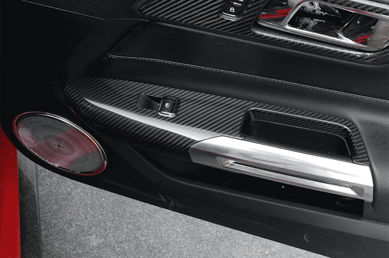 Carbon Fiber Dash Trim Driver Side Cover Trim For Ford 2015 Mustang LHD Only