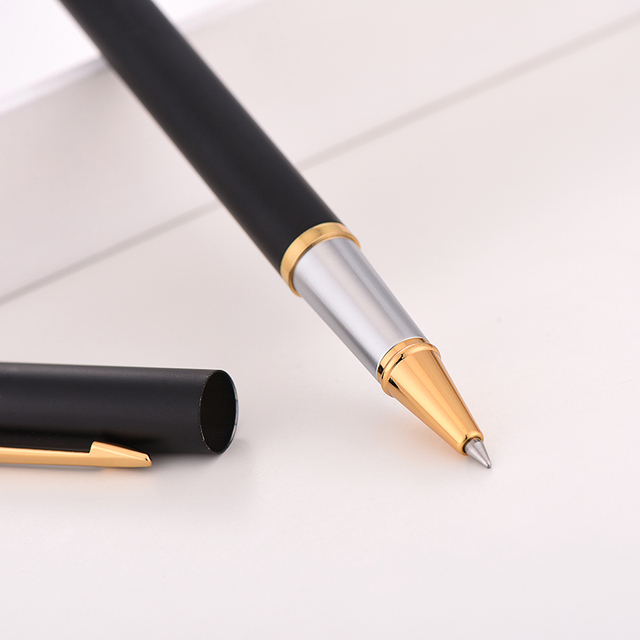Luxury Rollerball Pen Baoer Gel Pen Metal Ball Ballpoint Pen  Papelar Boligrafo Stationery Material Escolar Volume boligrafos 1