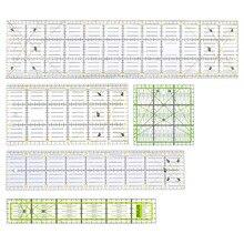 Juego de 5 unidades de retales rectangulares, reglas rectas de dibujo, costura a medida, herramientas para manualidades