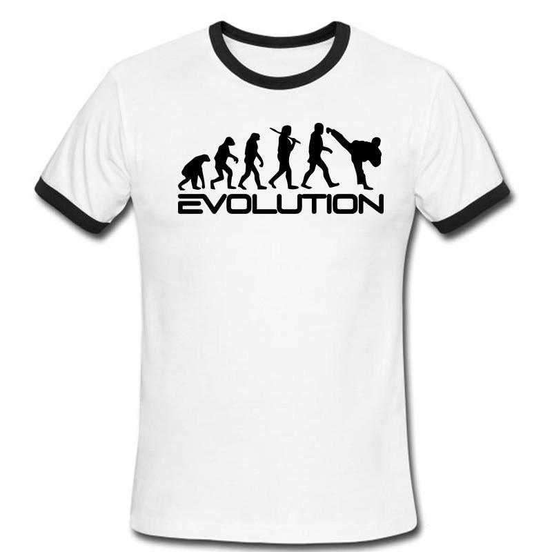1d19736cb1f94 Enfriar el Logo evolución de la historieta impresa camisetas para hombre de  la aptitud camiseta nueva de la llegada de los muchachos de moda camisa en  ...