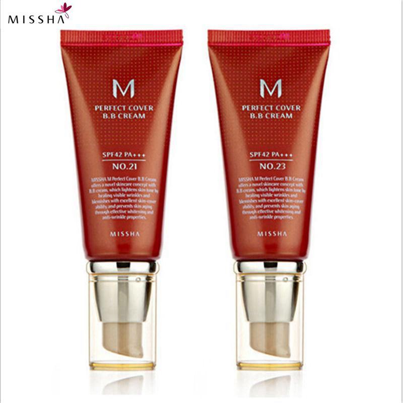 Missha M Perfect Cover BB Cream #21 Or #23 SPF42 Pa+++ 50Ml Korea Cosmetics Makeup Base CC Creams Whitening Original Package missha bb 50ml