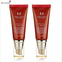 Missha M Perfect Cover BB Cream #21 Or #23 SPF42 Pa+++ 50Ml Korea Cosmetics Makeup Base CC Creams Whitening Original Package