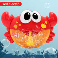 Funny Music Crab Bubble Blower Machine Electric Automatic Crab Bubble Maker Kids Bath Outdoor Toys Bathroom Toys Water Toy