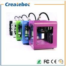 Black/Blue/White/Green/Purple Createbot New Model Super Mini 3D Printer Popular Shape Metal Shell Favorable Price Free Shipping