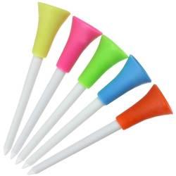 30 шт./лот многоцветный пластик Ти для гольфа резиновая 83 мм Подушка Топ golf Tee обучение гольфу Аксессуары Открытый Гольф со СПИДом