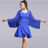 Adult/ tassel Latin Dance Dress Women Girls/Lady Cha Cha/Rumba/Samba/Tango/Ballroom Dance Skirt Latin Performance Wear