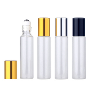 Image 5 - 50pieces/lot 10ml Essential Oil Bottle Glass Roll on Perfume Bottle For Essential Oils Empty Cosmetic Case With roller bottles