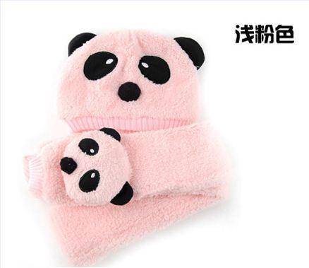 Розничная, комплект из шапки и шарфа для малышей, шерстяная шапка и шарф для малышей, зимняя детская шапка, вязаные шапки со звездой, вязаная шапка для детей - Цвет: light pink