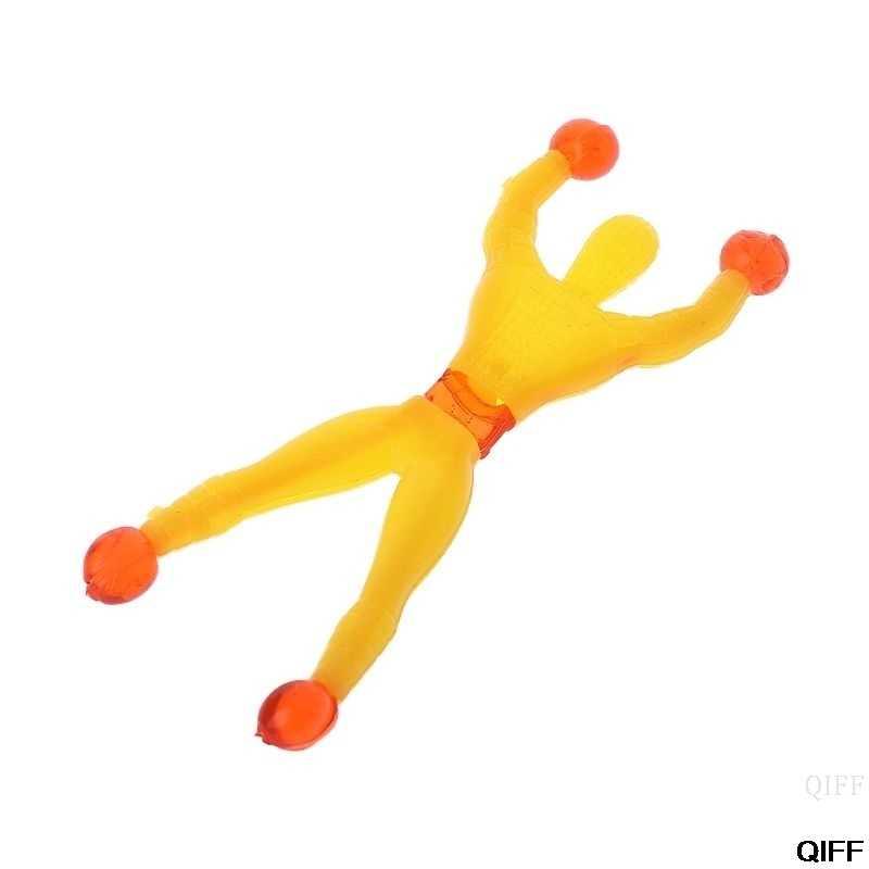 10 stücke Lustige Sticky Wand Klettern Spinne Mann Pädagogisches Spielzeug Kinder Kinder Geschenk